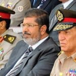 Egypt President Mohamed Morsi and Field Marshal Mohamed Hussein Tantawi